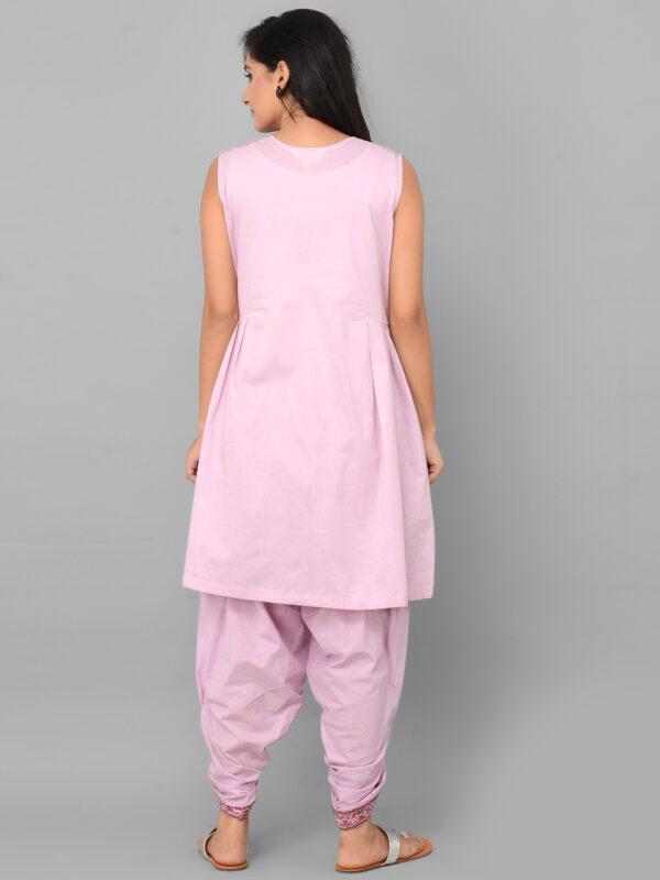 Pink Dhoti Set with Cape Back 1