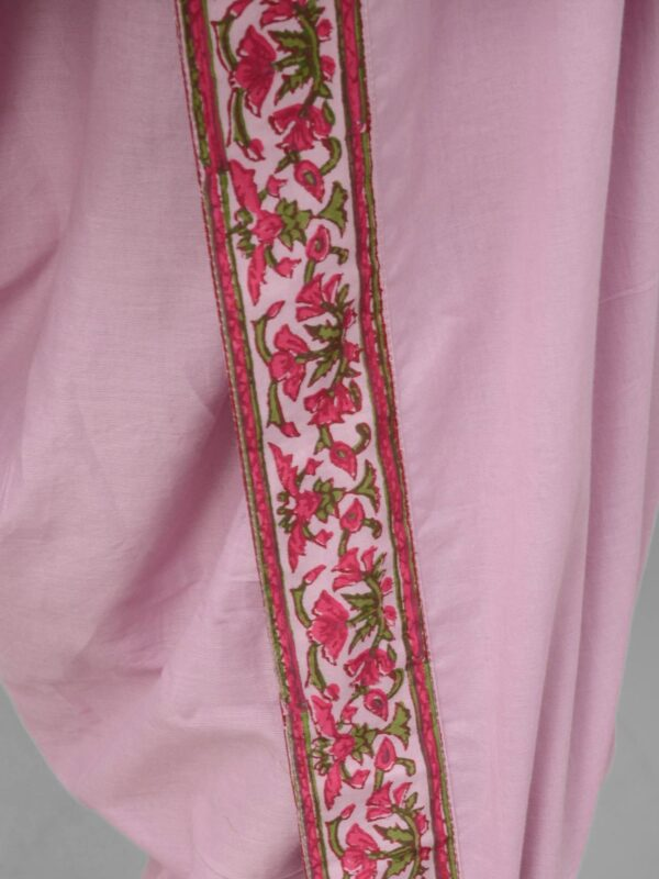 Pink Dhoti Set with Cape 1