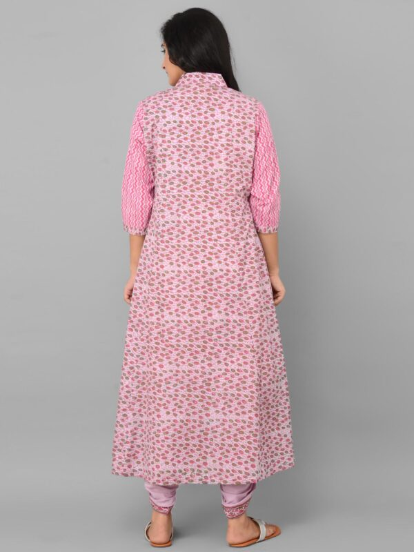 Pink Dhoti Set with Cape back