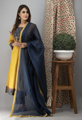 https://laado-online.com/shop/sets/hand-embroidered-bumblebee-yellow-kurta-ajrakh-pants-dupatta 5