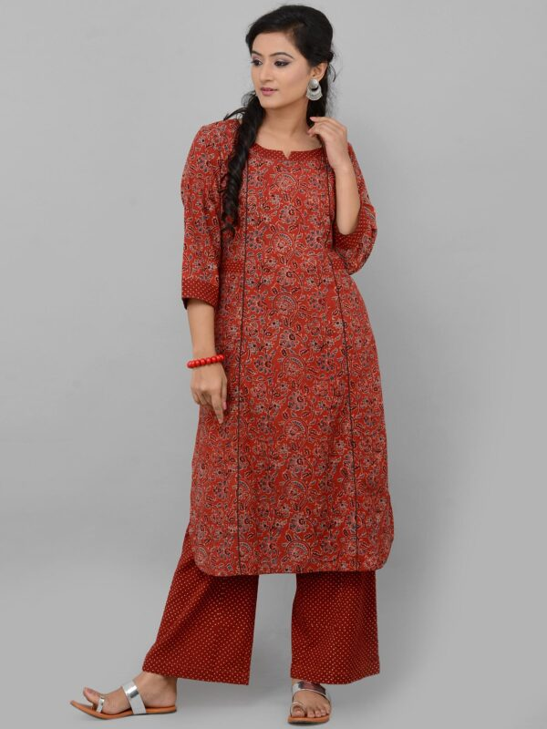 Red Dotted Cotton Palazzo